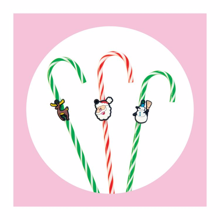 Picture of 3ct. Christmas Candy Cane Pens