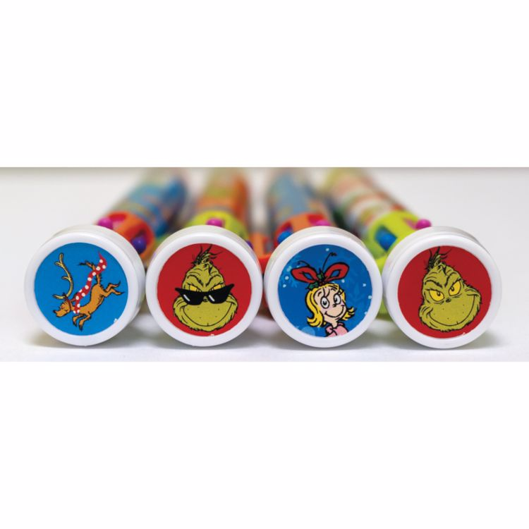 Picture of 2ct. Grinch 6 Color Pen With Stamper