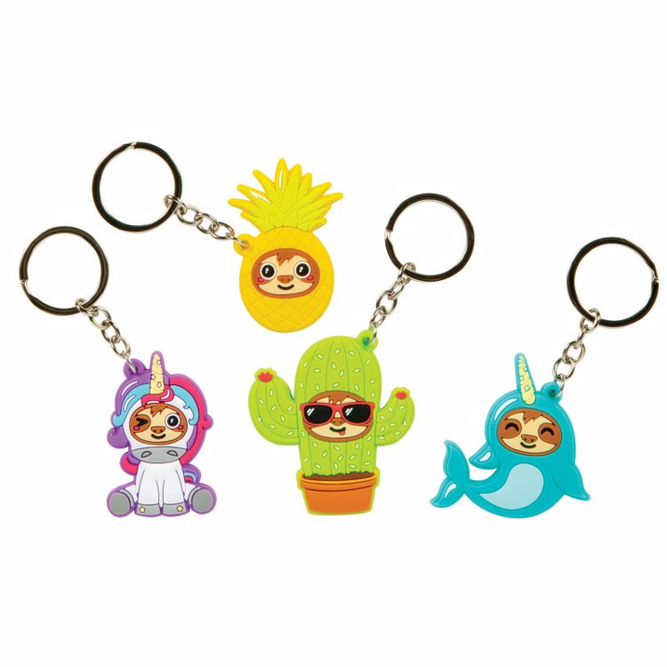Picture of 4ct. Sloths In Disguise Keychain Set