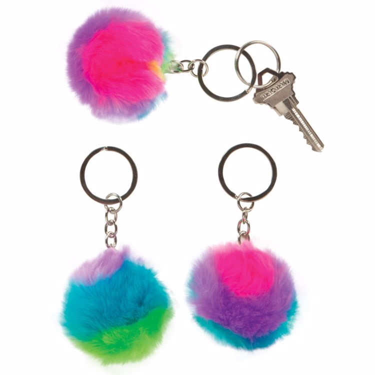 Picture of 1ct. Rainbow Pufferball Keychain