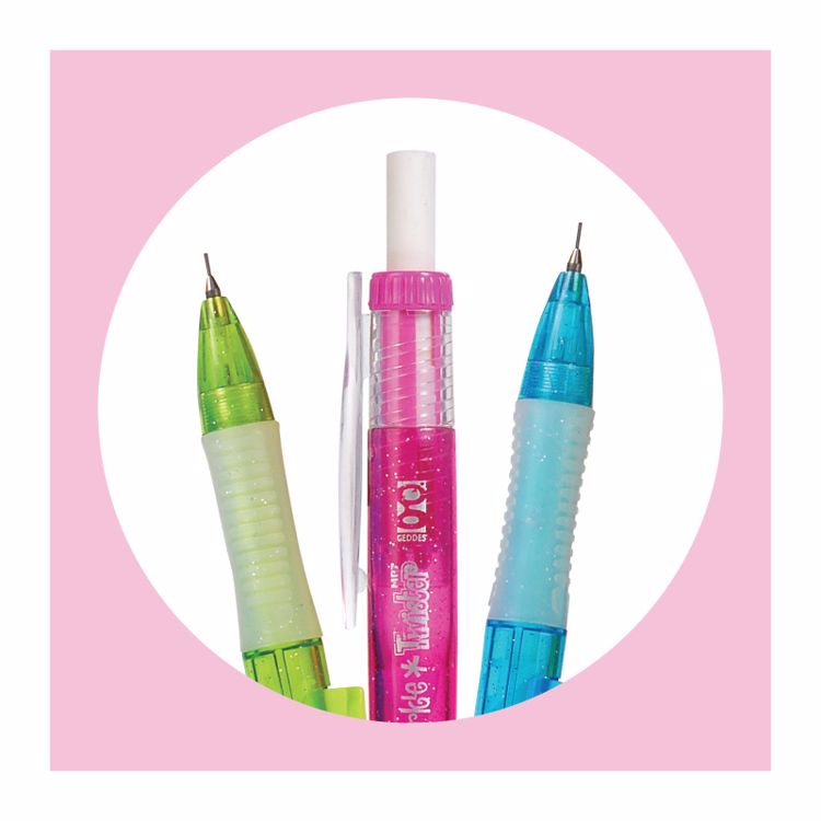 Picture of 4ct. .7mm Sparkle Twister Mechanical Pencil Set